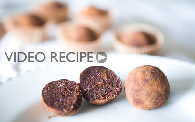 Raw Vegan OrangeTruffle. Recipe and Video.