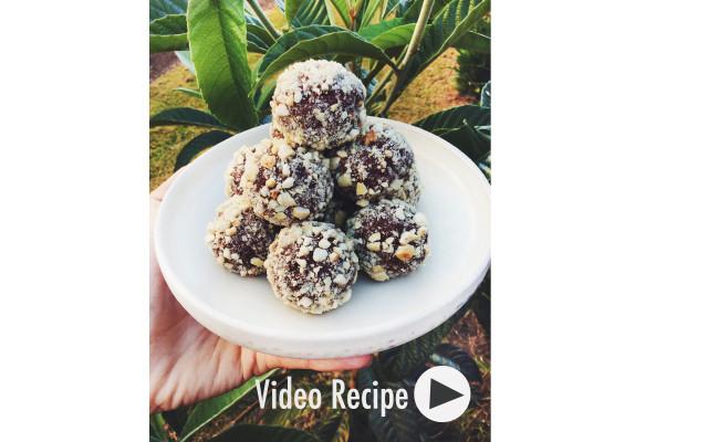 Vegan Sweet Potato Brownie Bites. Recipe and Video.