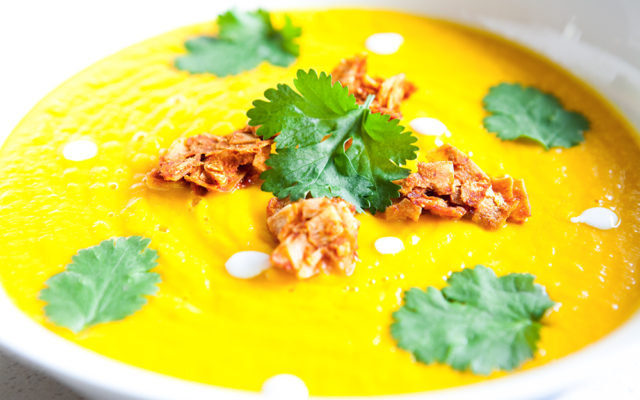 Pumpkin coconut healing soup