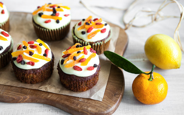 Apricot Carrot Cupcakes. Gluten free.