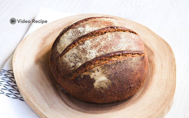 How to make Rye Sourdough Bread. Sourdough Rye Starter and Breadmaking. Recipe and Video.