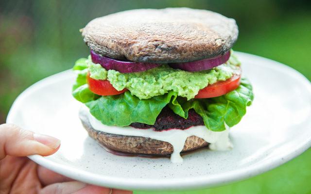 Beetroot Portobello Burger