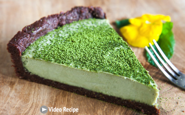 Chocolate Matcha Tart. Recipe and Video.
