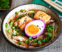 Kimchi Ramen Soup with Tofu and Pickled Egg