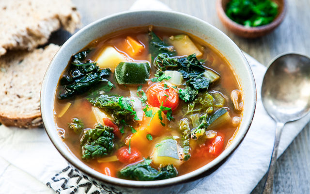 Cannellini Beans and Cavolo Nero Soup (Italian Ribollita Soup). Vegan Recipe.