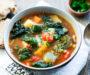 Cannellini Beans and Cavolo Nero Soup (Italian Ribollita Soup). Vegan Recipe.